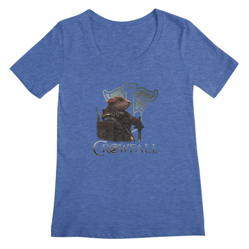 Crowfall Duelist Women's Regular Scoop Neck by Shirts by Noc