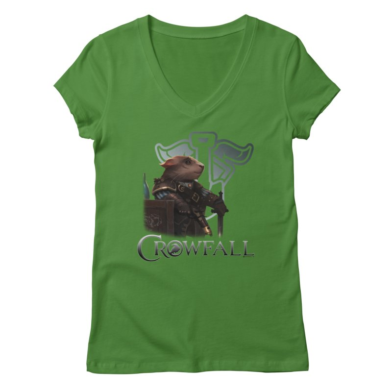 Crowfall Duelist Women's Regular V-Neck by Shirts by Noc