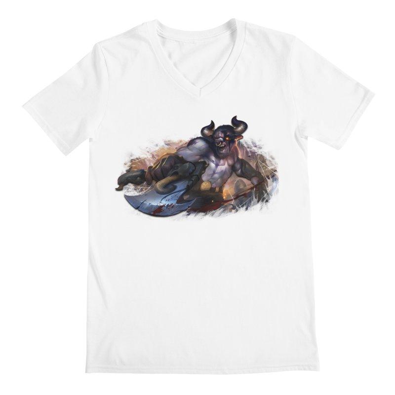Ragin' Bull Men's V-Neck by Shirts by Noc