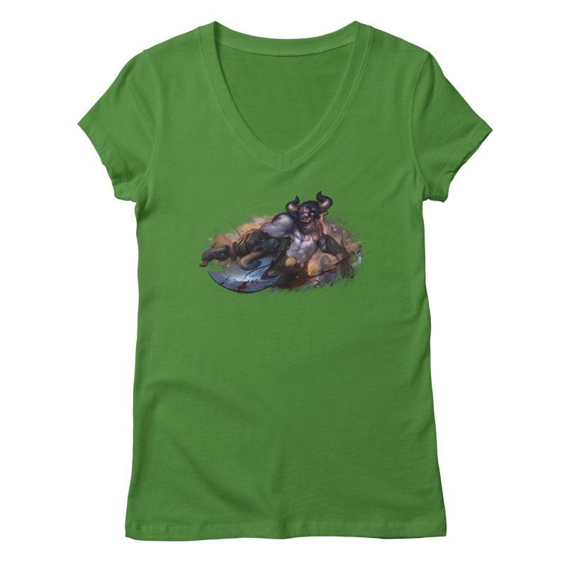 Ragin' Bull Women's V-Neck by Shirts by Noc