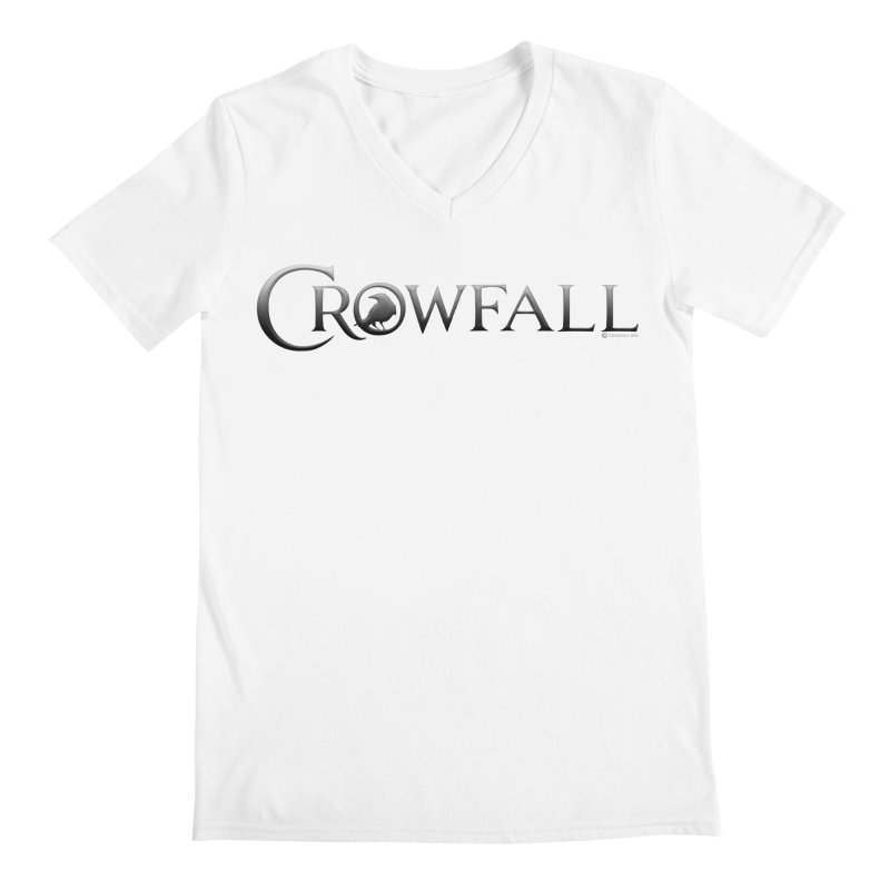 Crowfall Logo Men's V-Neck by Shirts by Noc