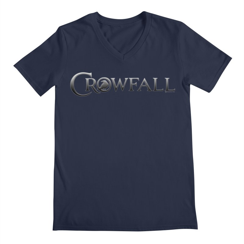 Crowfall Logo Men's Regular V-Neck by Shirts by Noc