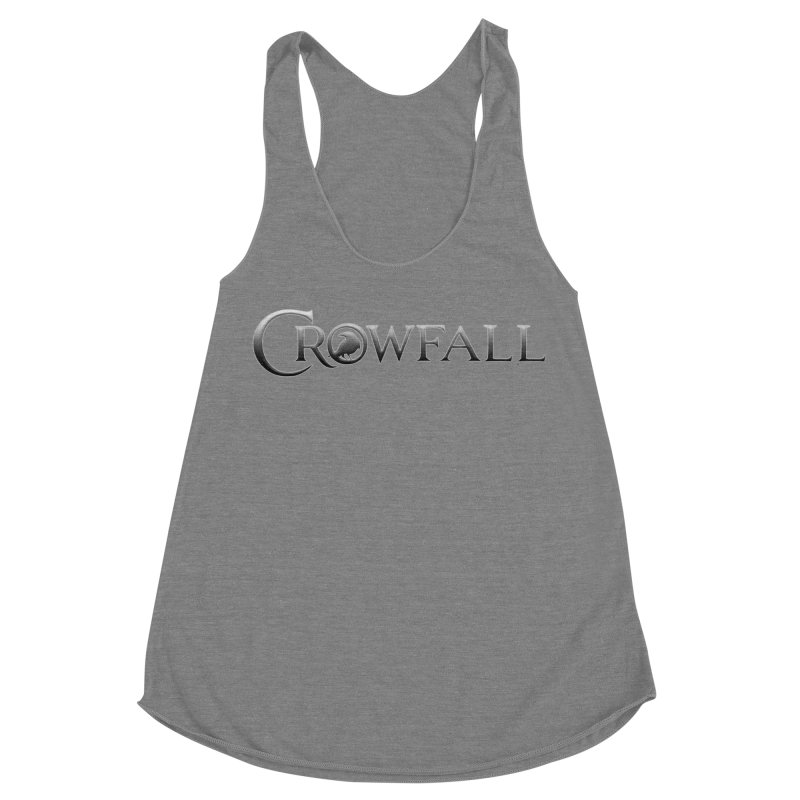 Crowfall Logo Women's Racerback Triblend Tank by Shirts by Noc