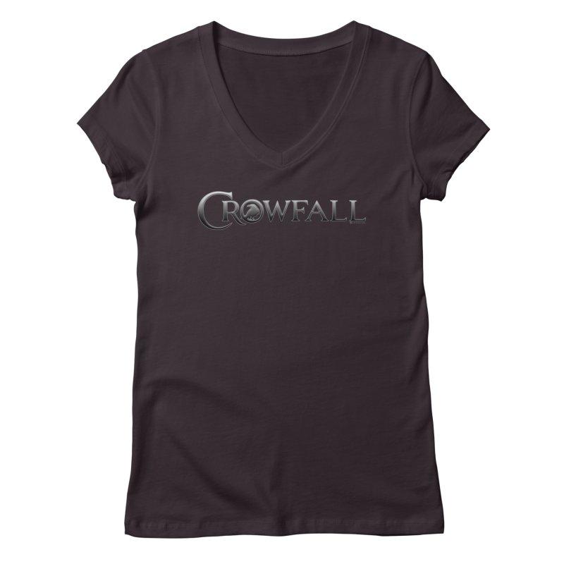 Crowfall Logo Women's V-Neck by Shirts by Noc