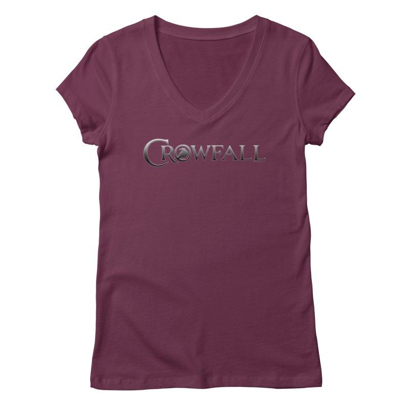 Crowfall Logo Women's Regular V-Neck by Shirts by Noc