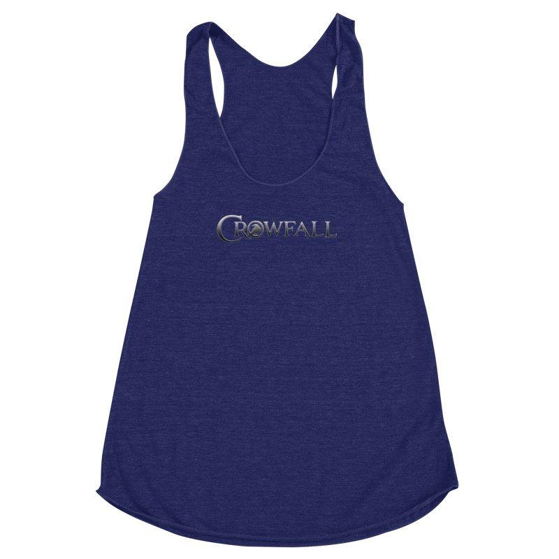 Crowfall Logo Women's Racerback Triblend Tank by Shirts by Noc
