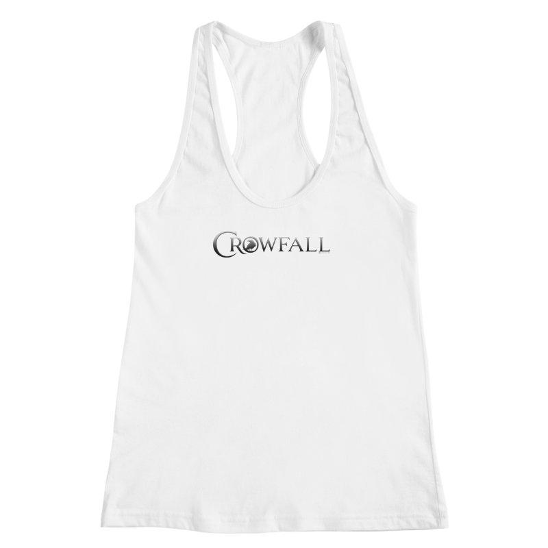 Crowfall Logo Women's Racerback Tank by Shirts by Noc