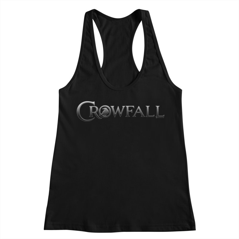 Crowfall Logo Women's Racerback Tank by Shirts by Noc