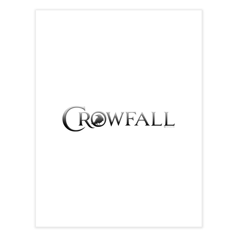 Crowfall Logo Home Fine Art Print by Shirts by Noc