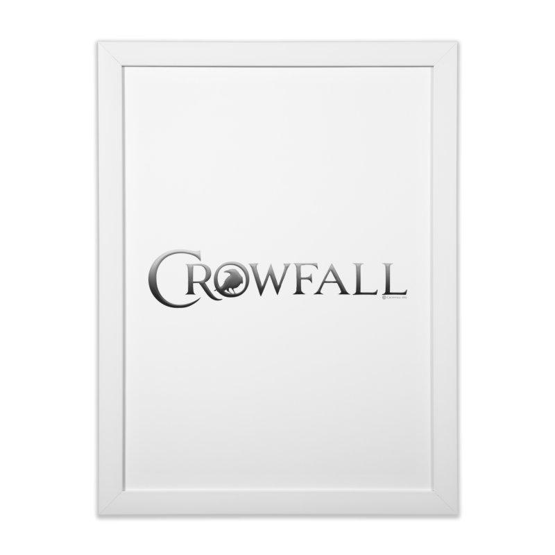 Crowfall Logo Home Framed Fine Art Print by Shirts by Noc