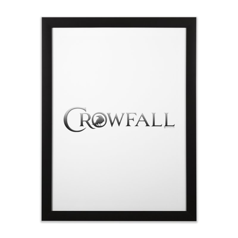 Crowfall Logo Home Framed Fine Art Print by Shirts by Noc