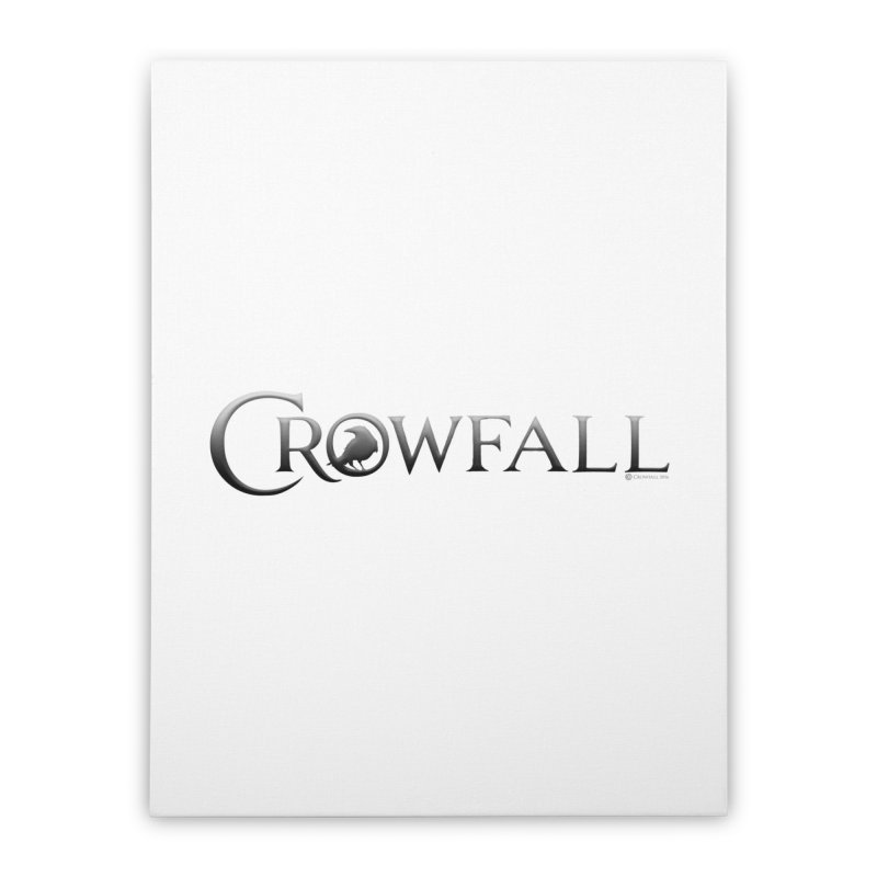Crowfall Logo Home Stretched Canvas by Shirts by Noc
