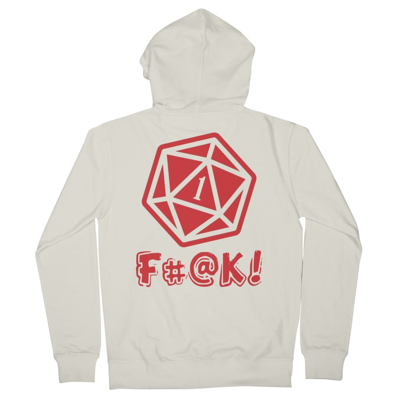 Crit Fail! Men's Zip-Up Hoody by Shirts by Noc