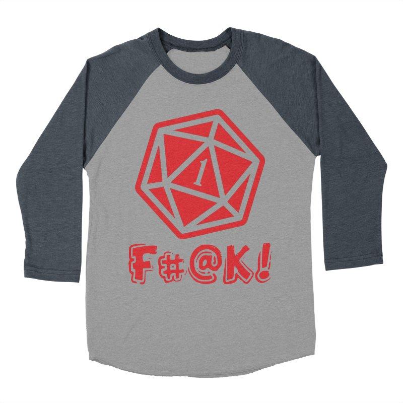 Crit Fail! Women's Baseball Triblend Longsleeve T-Shirt by Shirts by Noc