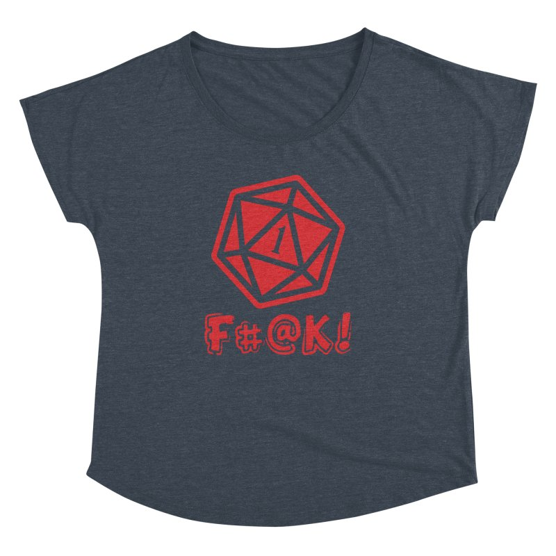 Crit Fail! Women's Scoop Neck by Shirts by Noc