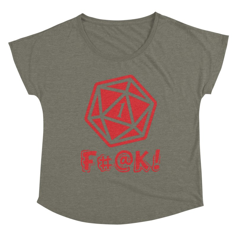 Crit Fail! Women's Dolman Scoop Neck by Shirts by Noc
