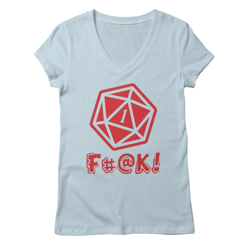Crit Fail! Women's Regular V-Neck by Shirts by Noc