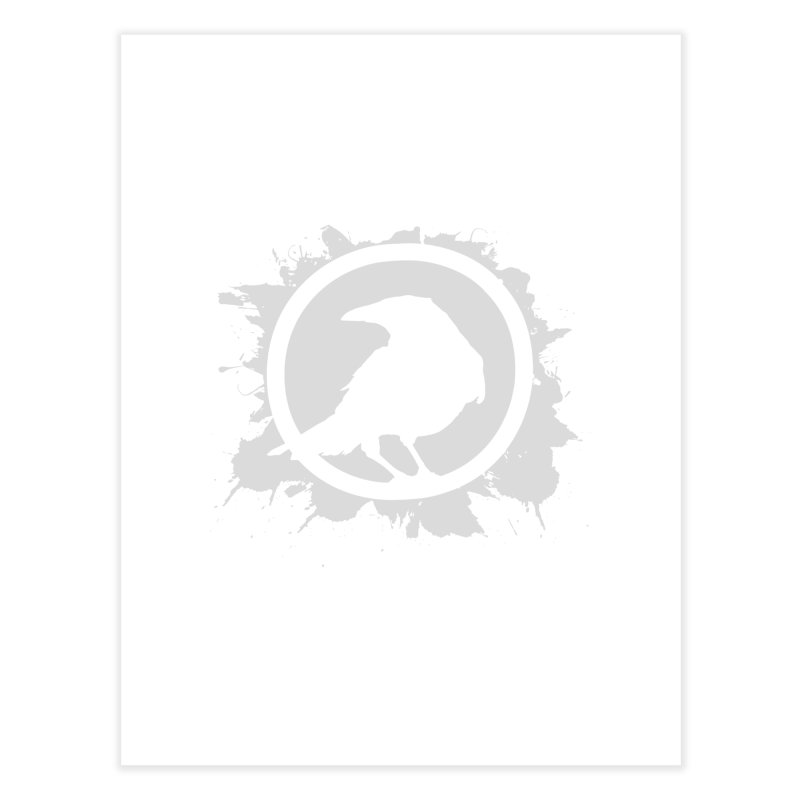 Crowfall Splatter Home Fine Art Print by Shirts by Noc