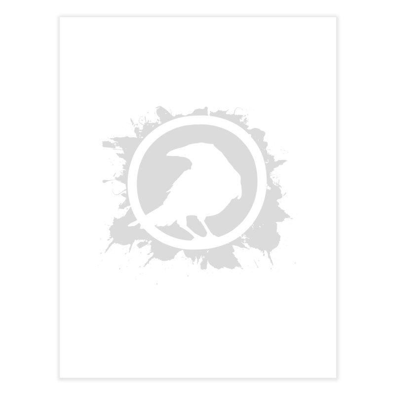 Crowfall Splatter Home Fine Art Print by Shirts by Noc