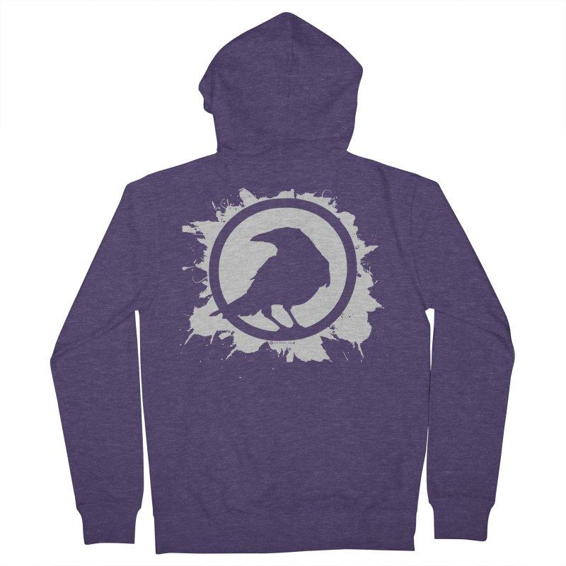 Crowfall Splatter Men's Zip-Up Hoody by Shirts by Noc