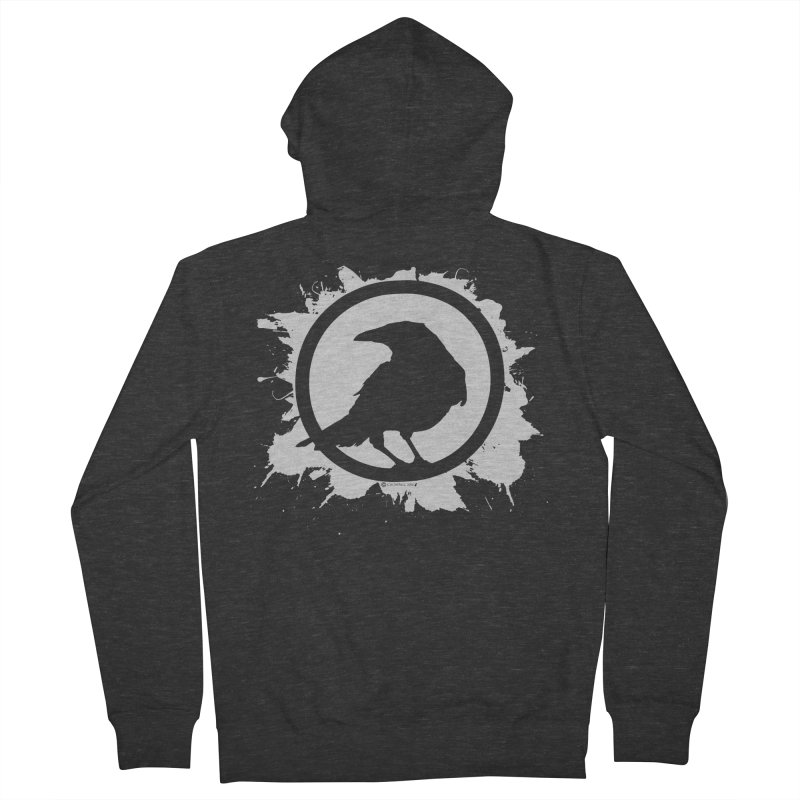 Crowfall Splatter Men's Zip-Up Hoody by Shirts by Noc