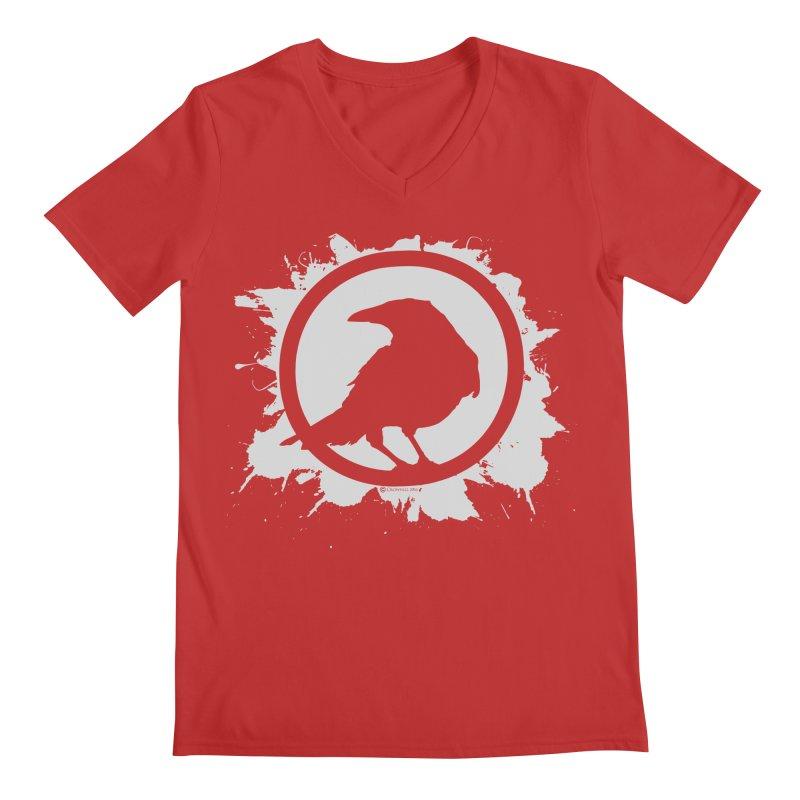 Crowfall Splatter Men's V-Neck by Shirts by Noc