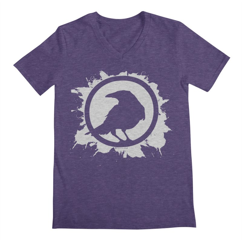 Crowfall Splatter Men's V-Neck by Shirts by Noc