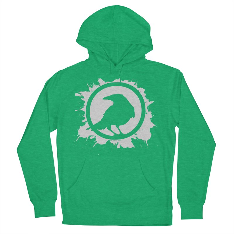 Crowfall Splatter Women's French Terry Pullover Hoody by Shirts by Noc