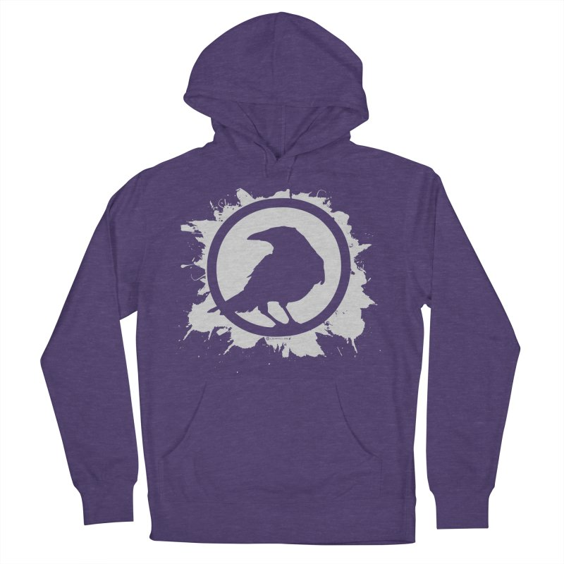 Crowfall Splatter Men's French Terry Pullover Hoody by Shirts by Noc