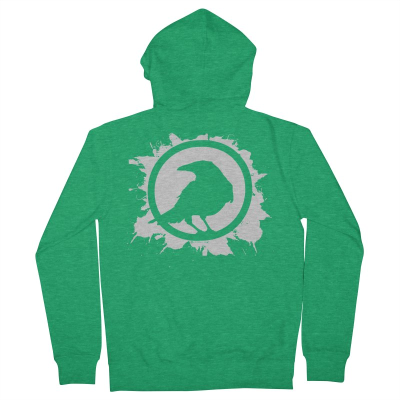 Crowfall Splatter Women's French Terry Zip-Up Hoody by Shirts by Noc