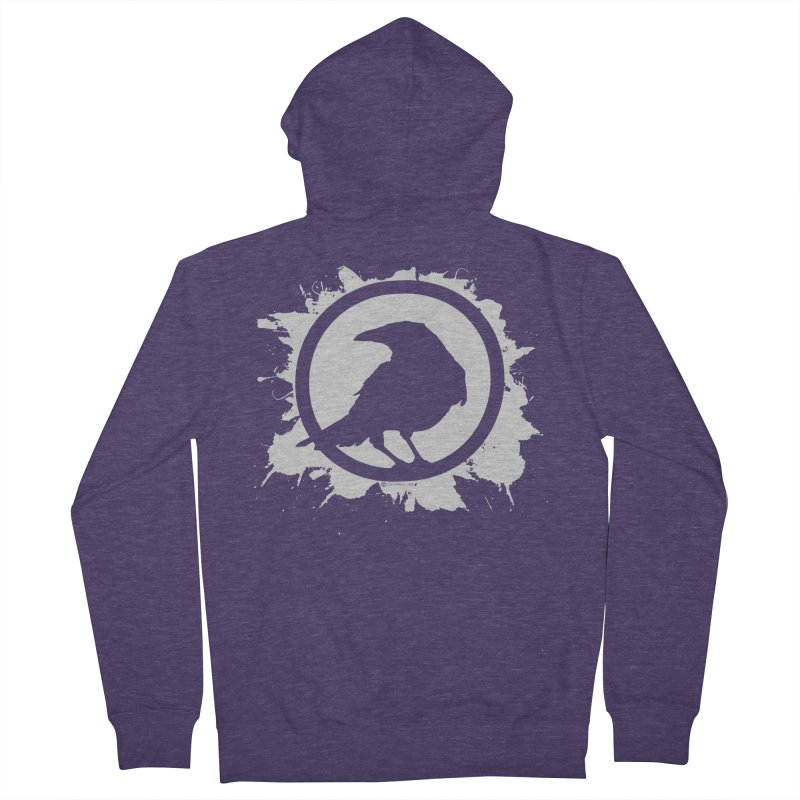Crowfall Splatter Men's French Terry Zip-Up Hoody by Shirts by Noc