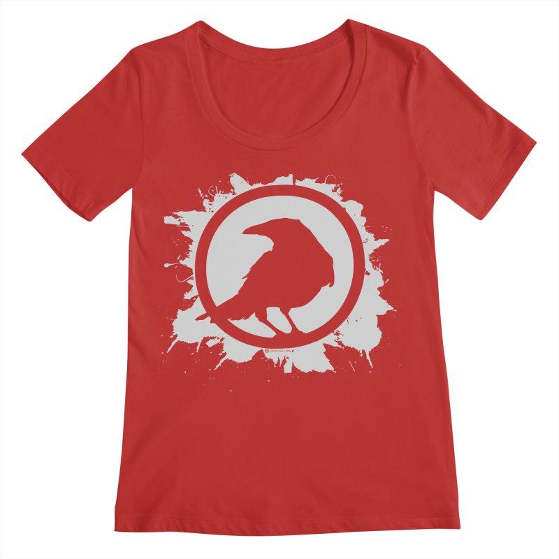 Crowfall Splatter Women's Regular Scoop Neck by Shirts by Noc