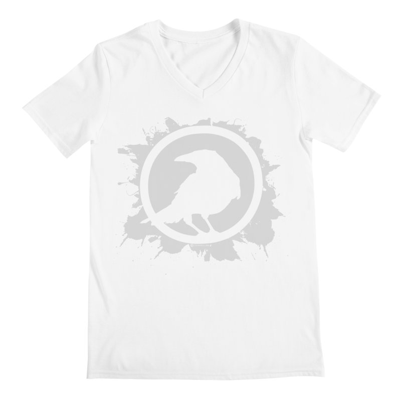 Crowfall Splatter Men's Regular V-Neck by Shirts by Noc