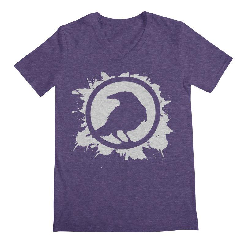 Crowfall Splatter Men's Regular V-Neck by Shirts by Noc