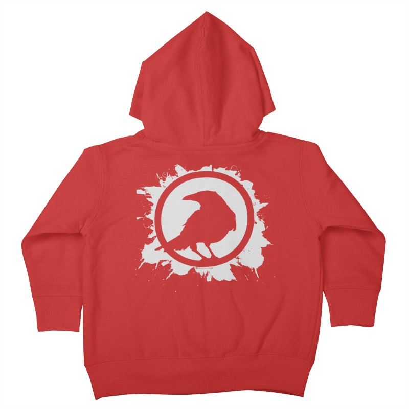 Crowfall Splatter Kids Toddler Zip-Up Hoody by Shirts by Noc
