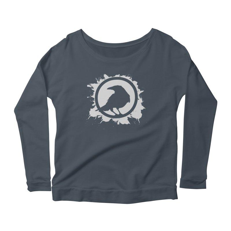 Crowfall Splatter Women's Scoop Neck Longsleeve T-Shirt by Shirts by Noc