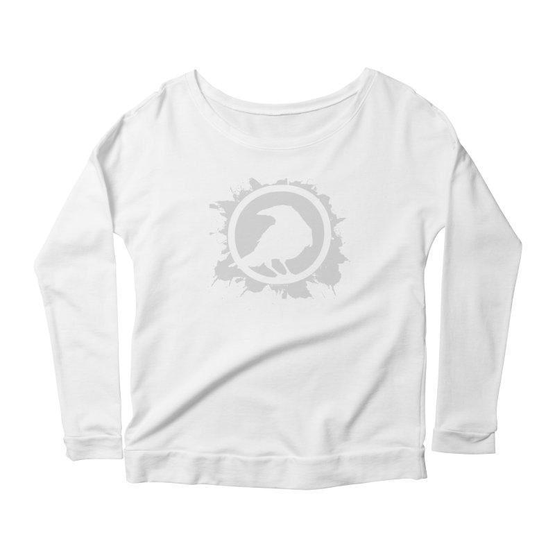 Crowfall Splatter Women's Longsleeve Scoopneck  by Shirts by Noc