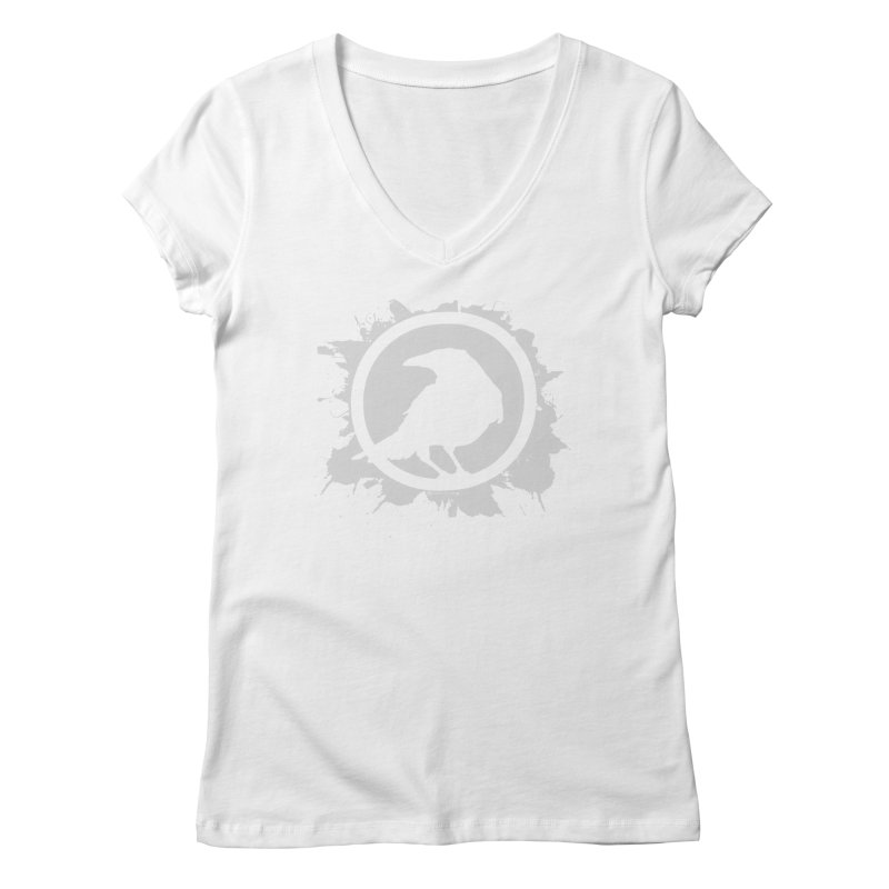 Crowfall Splatter Women's V-Neck by Shirts by Noc