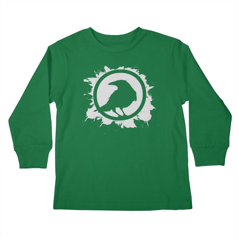 Crowfall Splatter Kids Longsleeve T-Shirt by Shirts by Noc