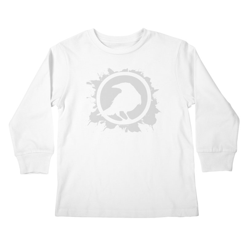 Crowfall Splatter Kids Longsleeve T-Shirt by Shirts by Noc