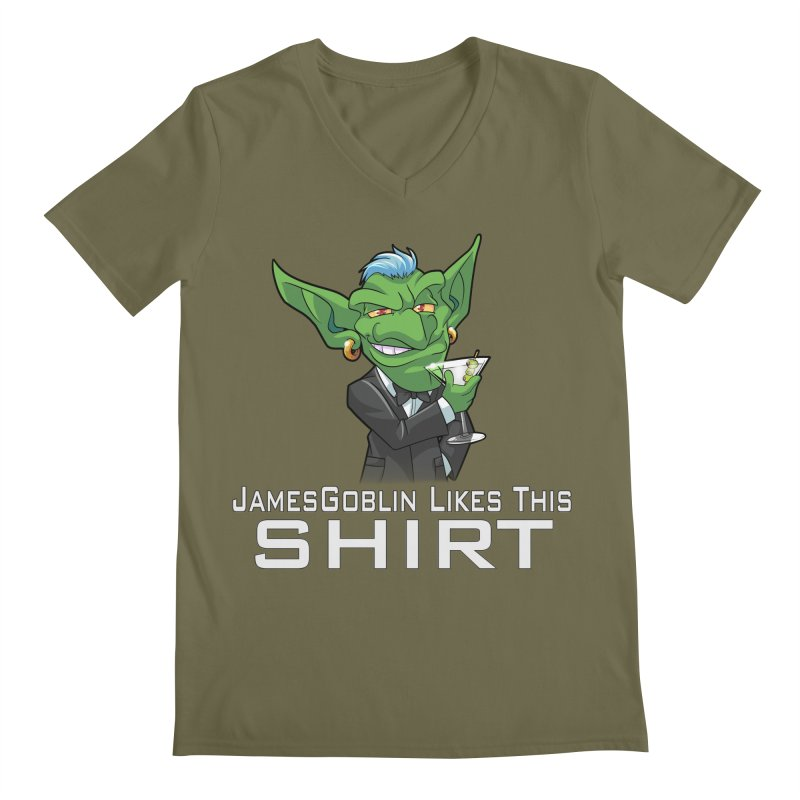 Someone Likes This! Men's Regular V-Neck by Shirts by Noc