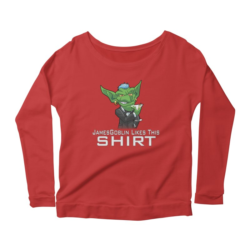Someone Likes This! Women's Longsleeve Scoopneck  by Shirts by Noc