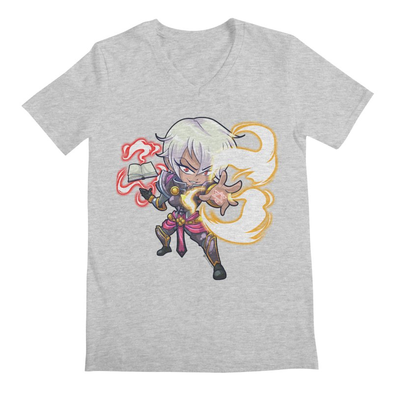 Chibi Series 1: Confessor Men's Regular V-Neck by Shirts by Noc