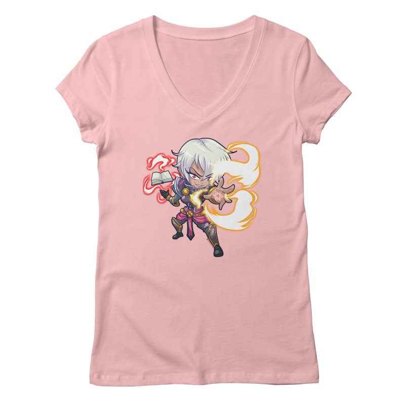 Chibi Series 1: Confessor Women's V-Neck by Shirts by Noc