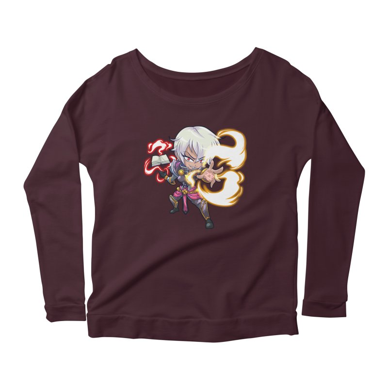 Chibi Series 1: Confessor Women's Scoop Neck Longsleeve T-Shirt by Shirts by Noc