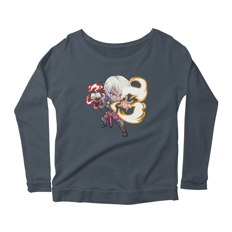Chibi Series 1: Confessor Women's Longsleeve Scoopneck  by Shirts by Noc