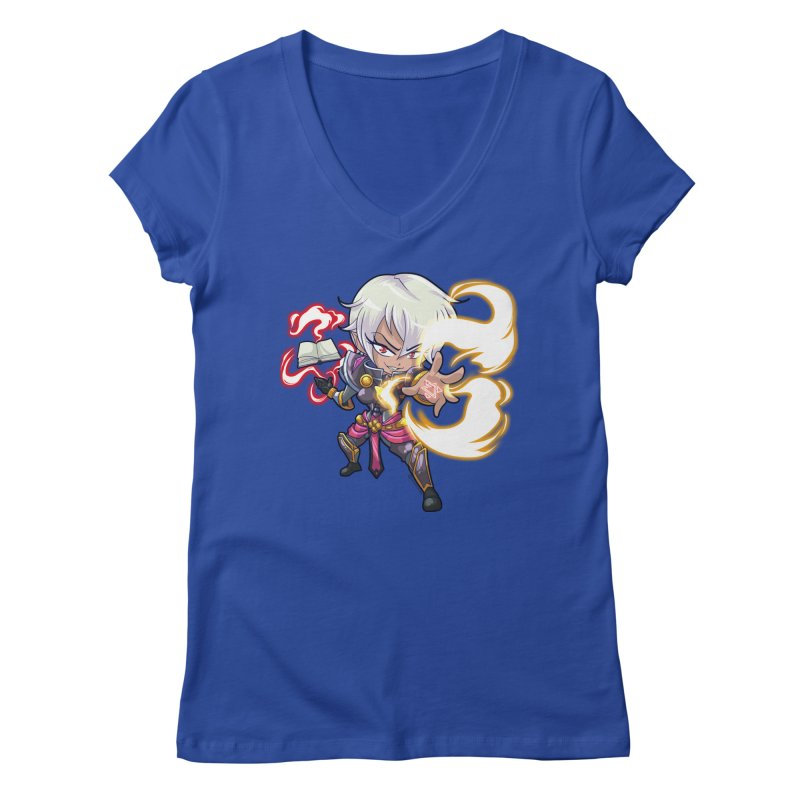 Chibi Series 1: Confessor Women's Regular V-Neck by Shirts by Noc