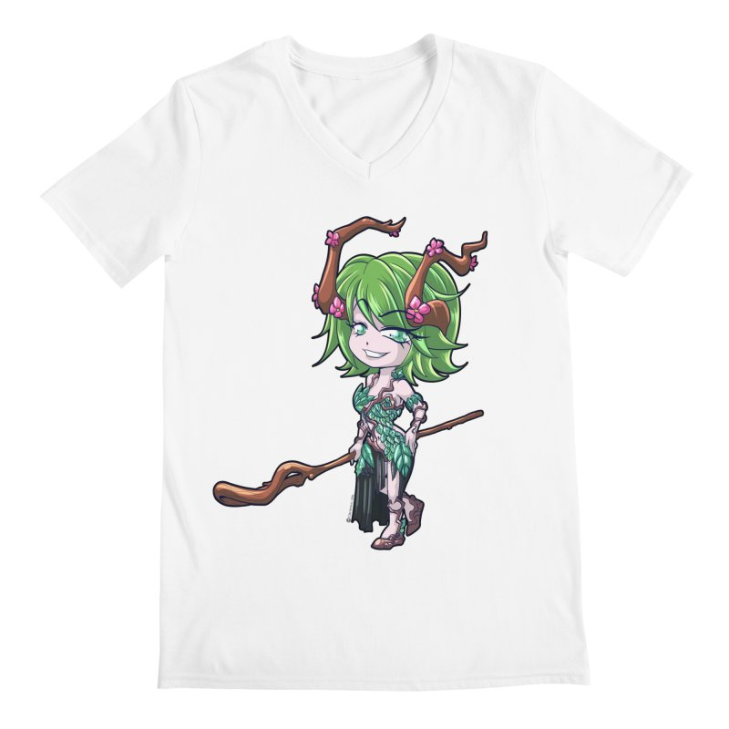 Chibi Series 1: Druid Men's V-Neck by Shirts by Noc