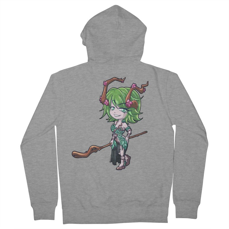 Chibi Series 1: Druid Women's French Terry Zip-Up Hoody by Shirts by Noc