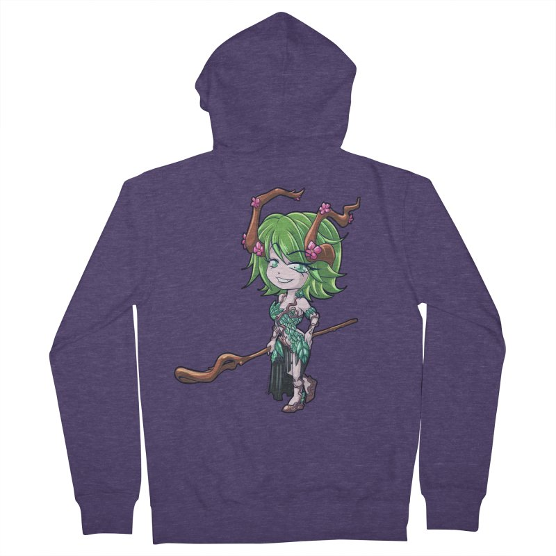 Chibi Series 1: Druid Men's French Terry Zip-Up Hoody by Shirts by Noc